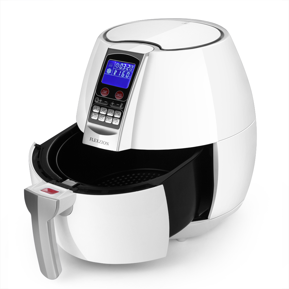 electric air fryer cooker oil less dry hot air steam fryer detachable basket ebay. Black Bedroom Furniture Sets. Home Design Ideas