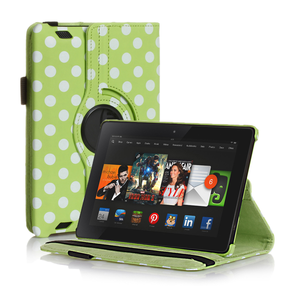 Rotating PU Leather Smart Case Cover For Amazon Kindle ...