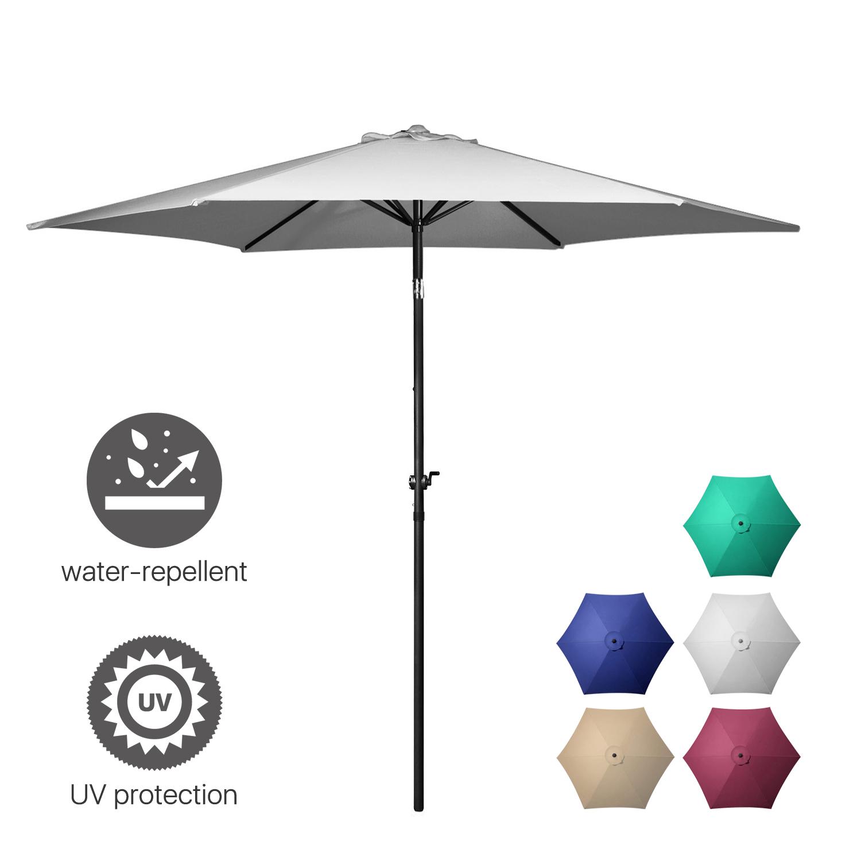 9'ft 10'ft Aluminum Umbrella Market Umbrella Table Patio