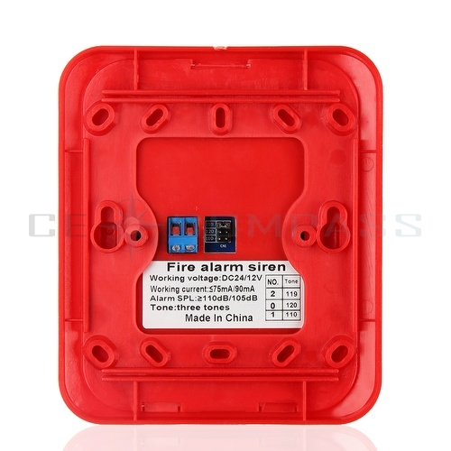 fire alarm horn strobe quick alert safety systems sensor red with wall. Black Bedroom Furniture Sets. Home Design Ideas