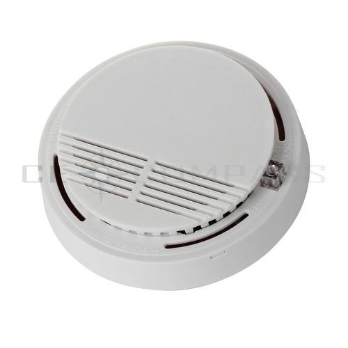 wireless smoke detector home security fire alarm sensor system cordless white. Black Bedroom Furniture Sets. Home Design Ideas