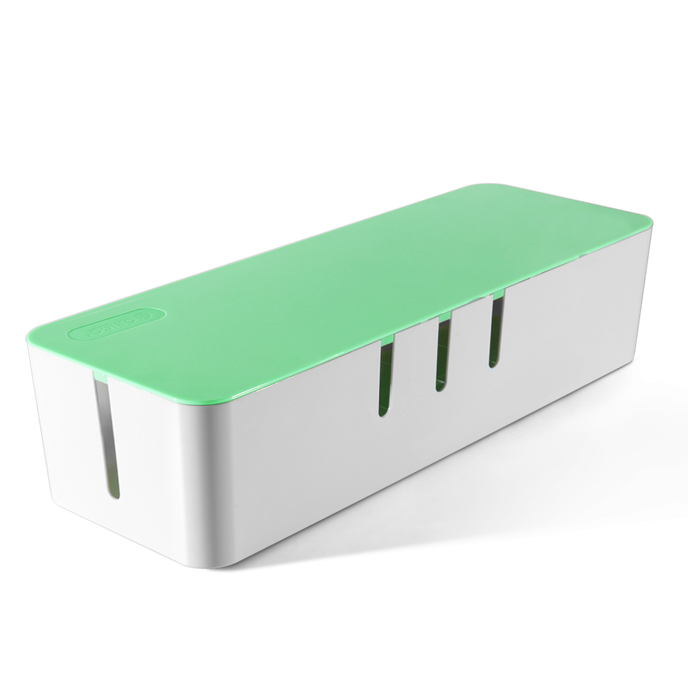 Cable Management Box Cord Organizer Kit Green Large Cover