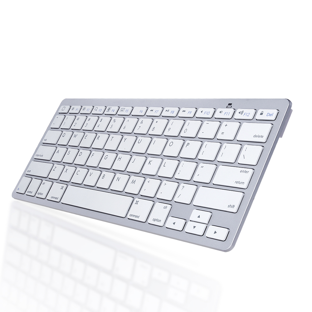 Bluetooth Wireless Mini Keyboard for Apple iOS & Android Cellphone Tablet White