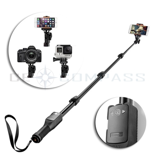 extendable bluetooth remote selfie stick monopod for gopro dslr iphone 6s 6 plus ebay. Black Bedroom Furniture Sets. Home Design Ideas