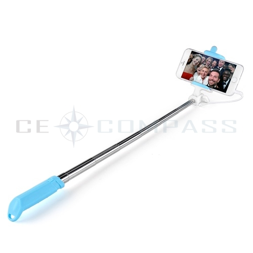 extendable handheld mini wire selfie stick monopod for iphone 6s android sams. Black Bedroom Furniture Sets. Home Design Ideas