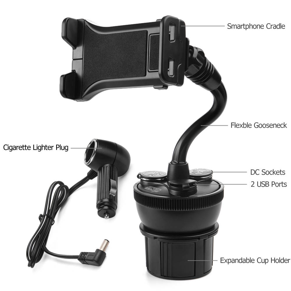 smartphone car mount holder charger station universal cup