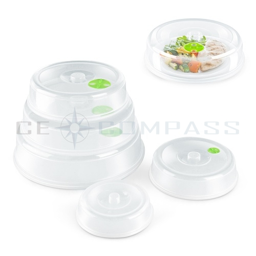 Microwave Plate Cover Lid 5 Piece Set Dish With Splatter Spatter Protection