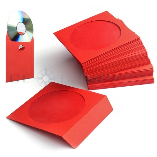 100 pack cd dvd thick paper sleeves envelope case with for 100 paper cd sleeves with window flap