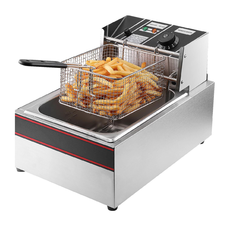 Countertop Deep Fryer : ... Liter Electric Countertop Deep Fryer Tank Basket Commercial Restaurant