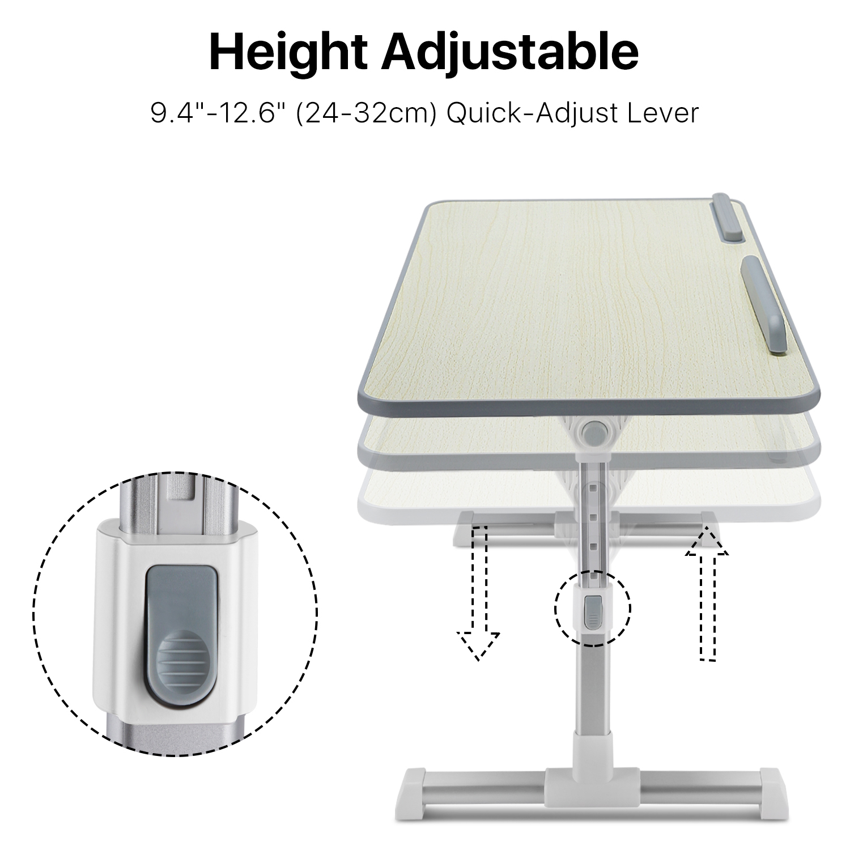 Adjustable Portable Laptop Usb Folding Table W 2 Cooling