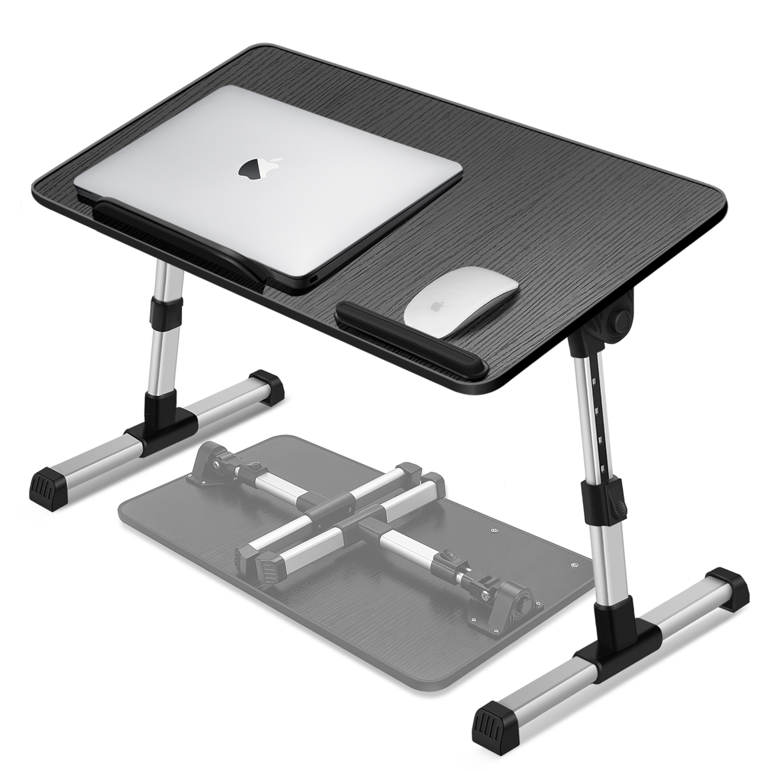 Image Is Loading Adjule Portable Laptop Usb Folding Table W 2