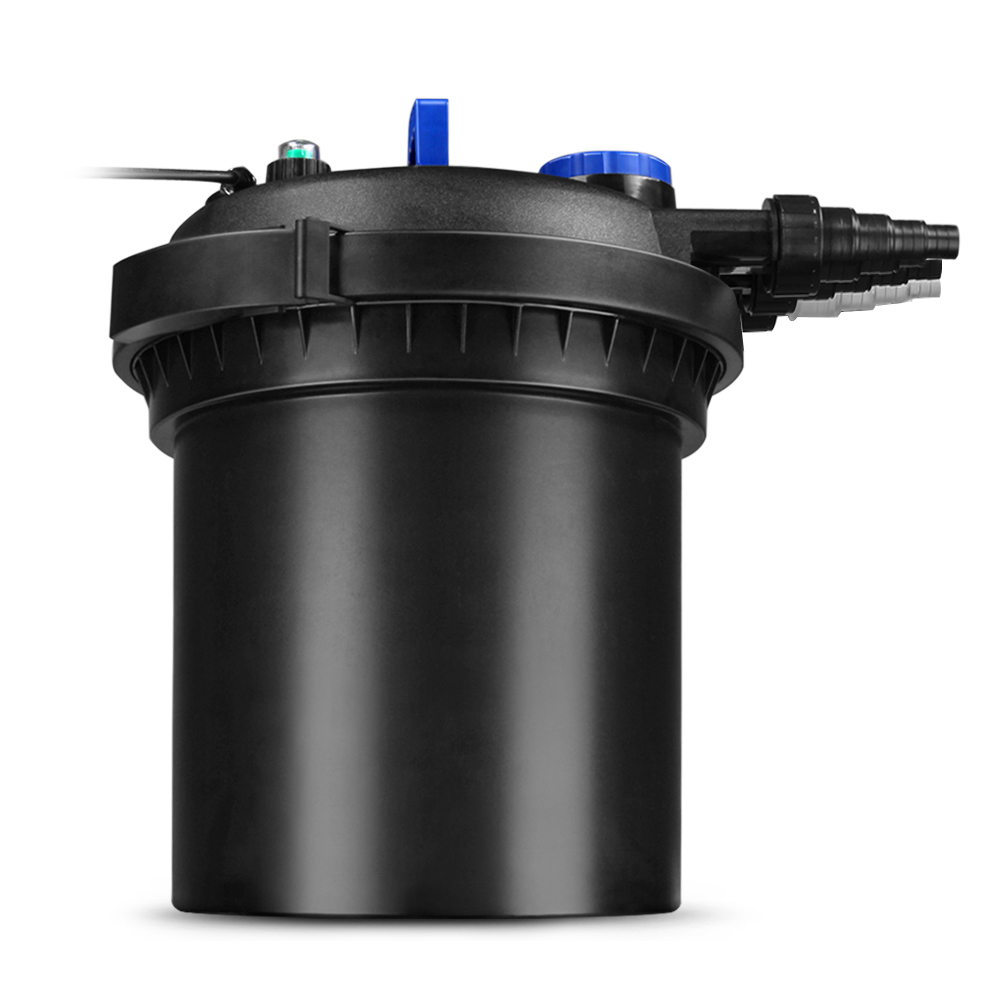 Pond pressure bio filter uv sterilizer light system galkoi for External fish pond filters