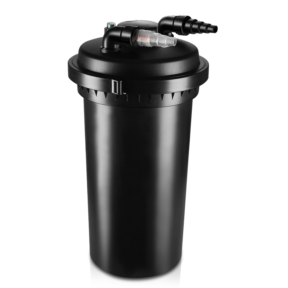 Pond pressure bio filter uv sterilizer light system galkoi for Pond filters reviews