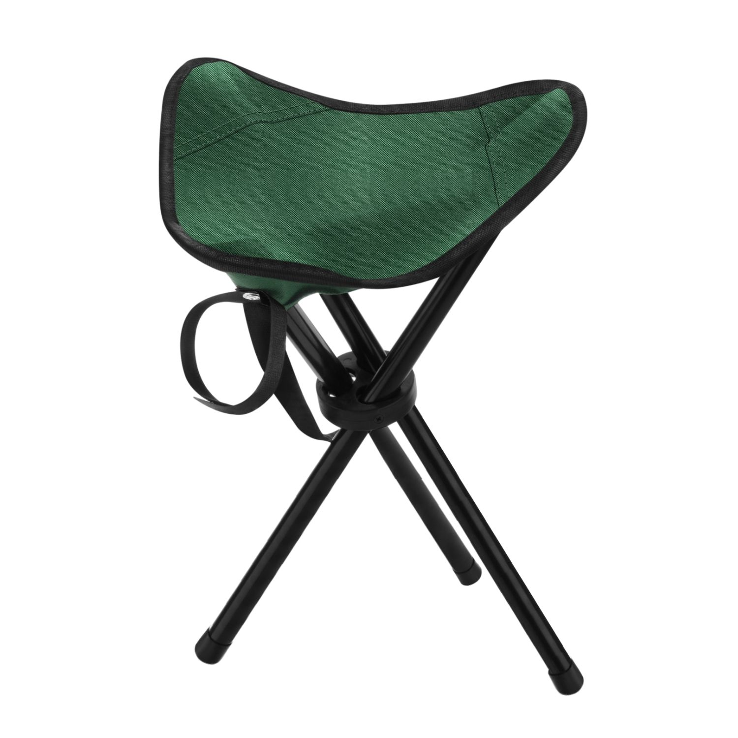 Outdoor Hiking Fishing Lawn Portable Pocket Folding Chair With 3 Leg Stool Green