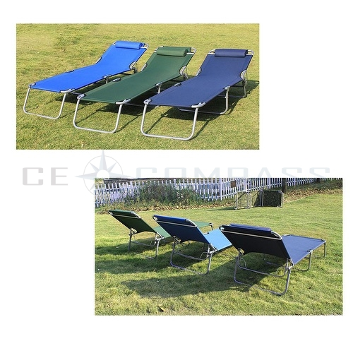 Portable ostrich lawn chair folding outdoor chaise lounge for Beach chaise lounge folding