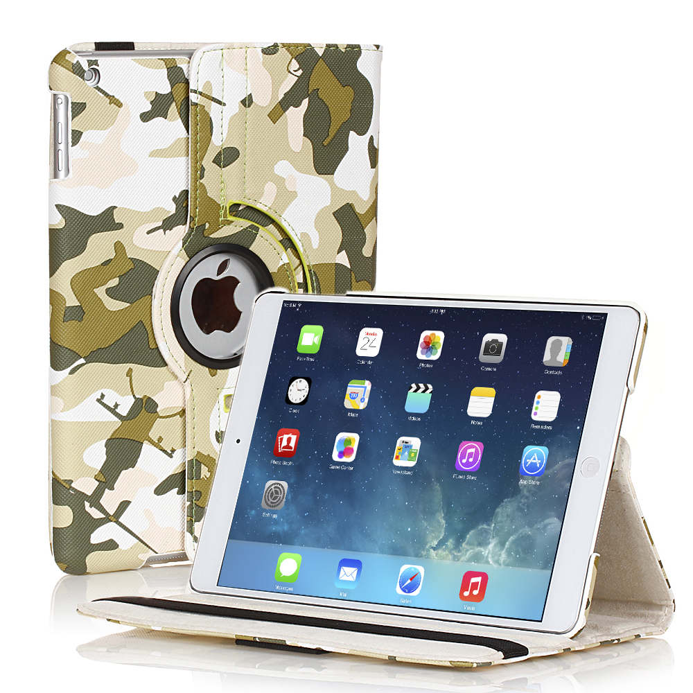 CE Compass 360 Degree Rotating PU Leather Camouflage Case Smart Cover Stand For Apple iPad Air 5 5th Gen Green at Sears.com