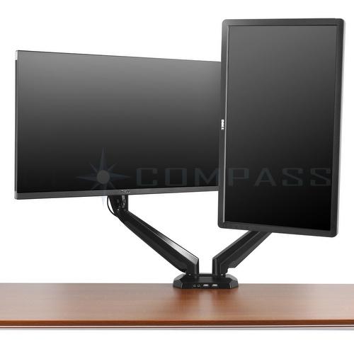Dual Monitor Mount Desk Stand Adjustable Gas Spring Arm Tilt