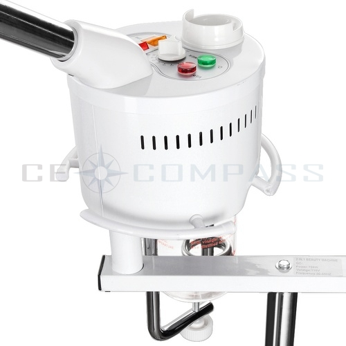 Pro 2 In 1 Facial Steamer 5X Magnifying Lamp Hot Ozone