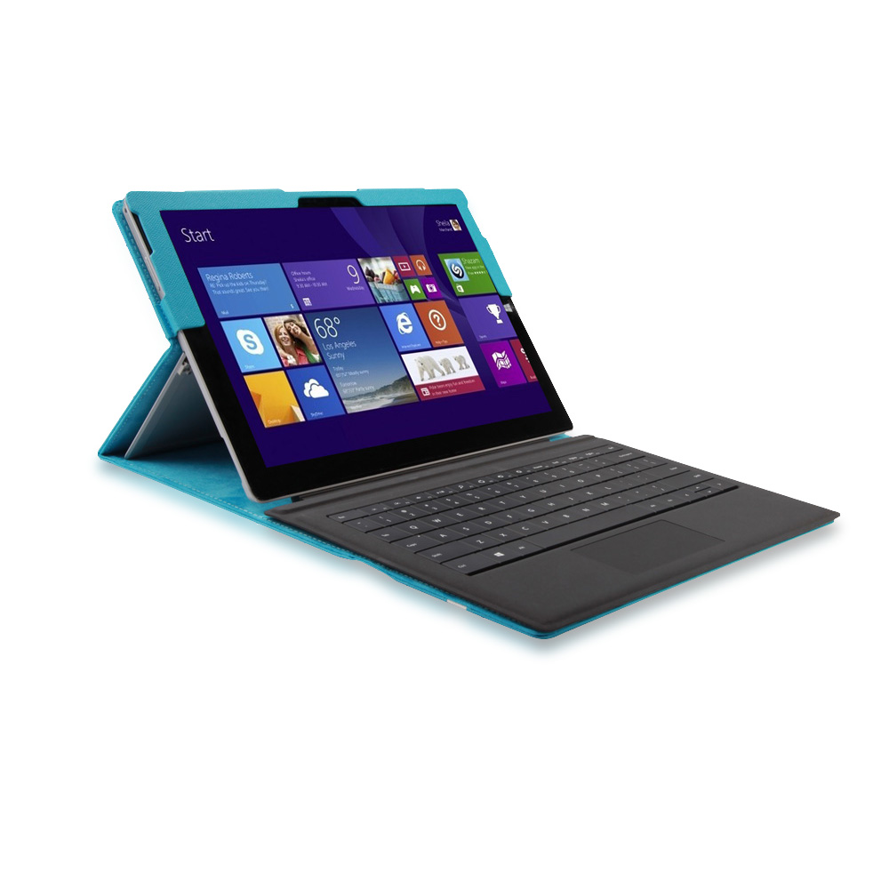 For Microsoft Surface Pro 3 Portfolio PU Leather Stand ...