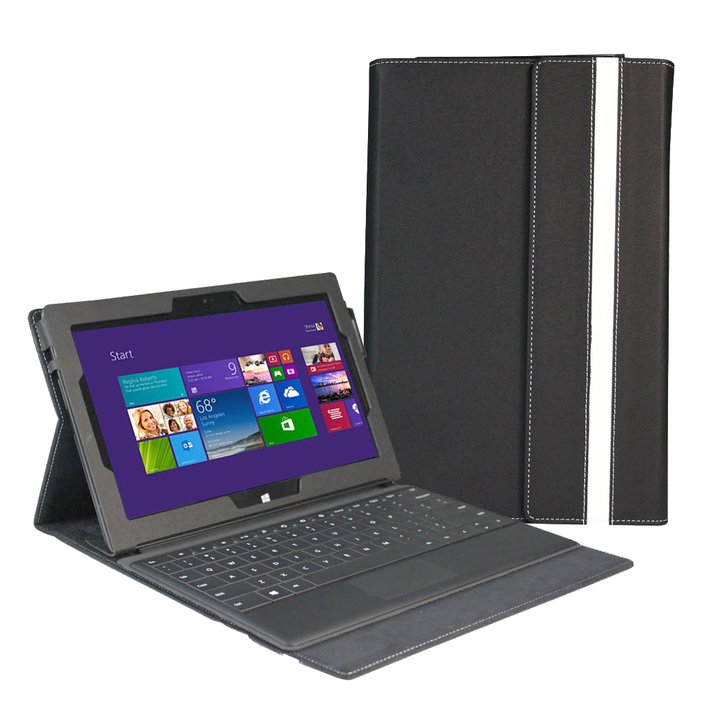 PU Leather Stand Case with Keyboard Holder For Microsoft ...