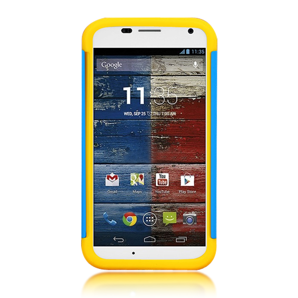 Stylish Hybrid 2 in 1 Silicone Skin Hard Case for Motorola Moto X