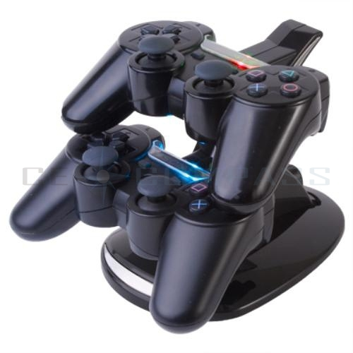 Led Dual Controller Charger Dock Station Stand Charging For Playstation 3 PS3 | eBay