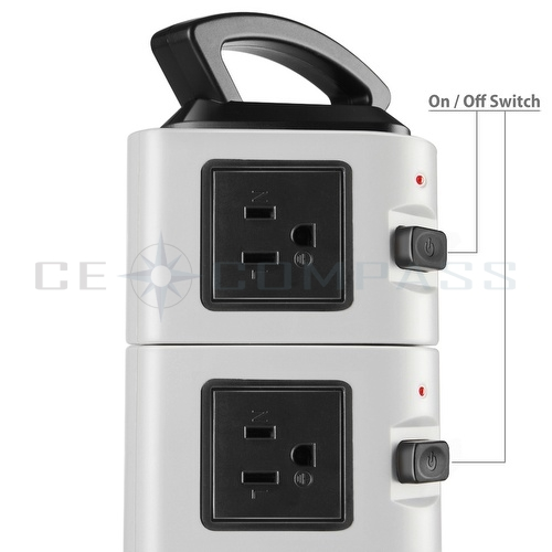 power strip with usb surge protector 10 outlet 4 usb port charger charging tower ebay. Black Bedroom Furniture Sets. Home Design Ideas