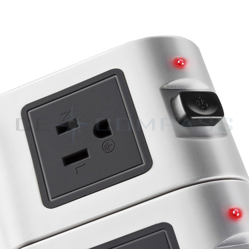 power strip with usb surge protector 6 outlet 4 usb port charger charging tower ebay. Black Bedroom Furniture Sets. Home Design Ideas