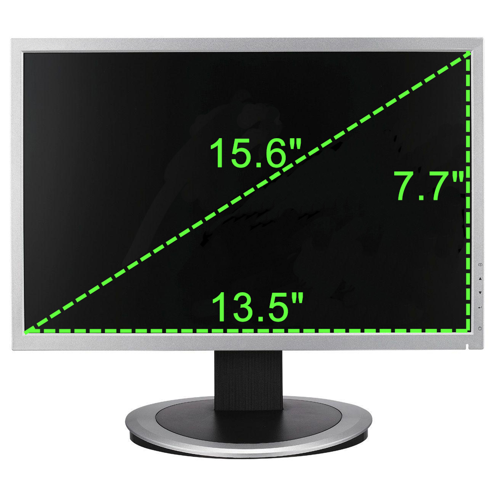 Fits screen sizes of 15.6