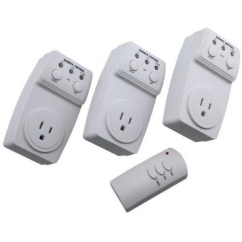 3 pack wireless remote control ac power outlet plug light. Black Bedroom Furniture Sets. Home Design Ideas