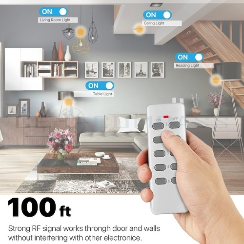 5 Pack Remote Control Outlet Wireless AC Power Outlets ...