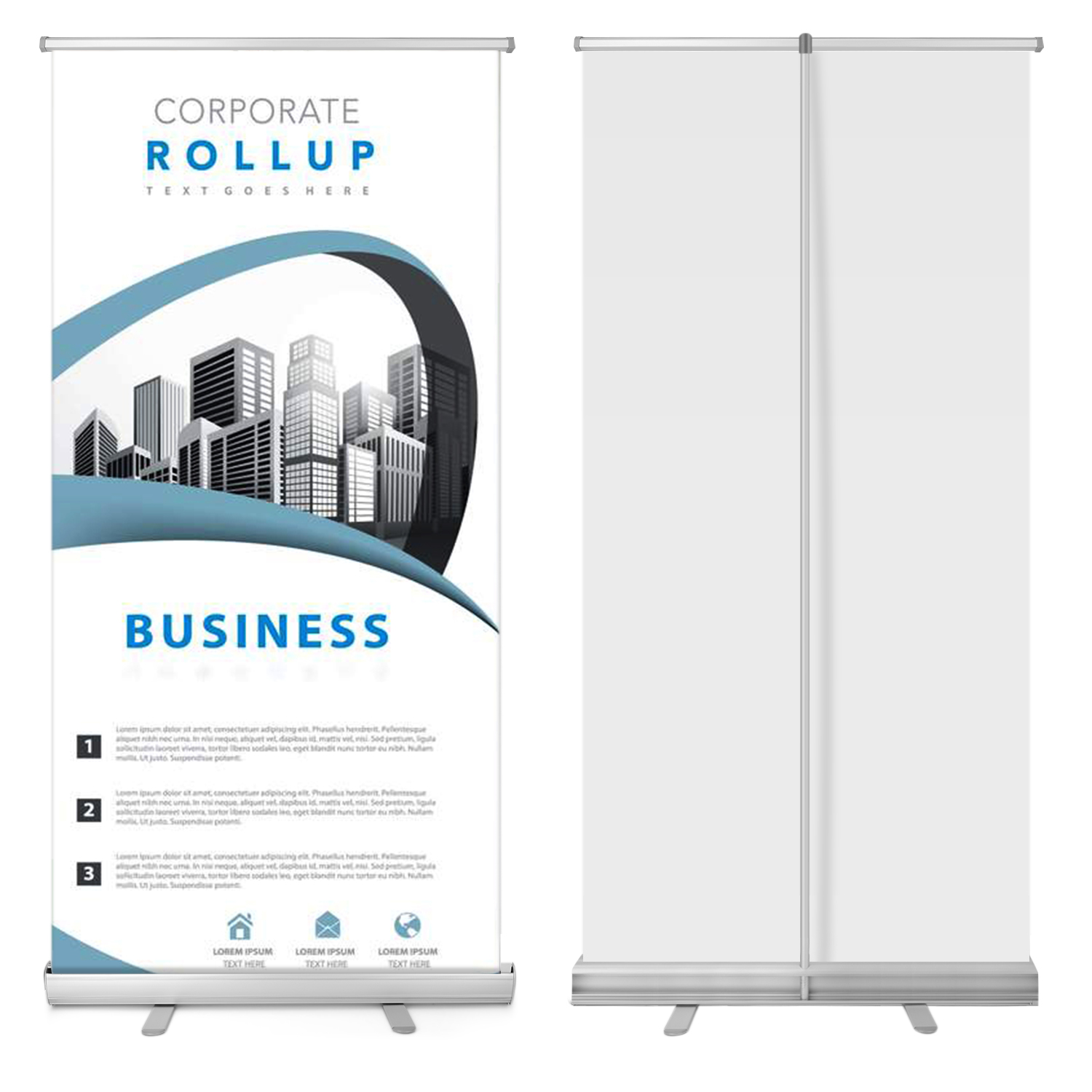 """Retractable 33""""x79"""" Roll Up Banner Stand Trade Show Sign Signage Display w/ Bag"""