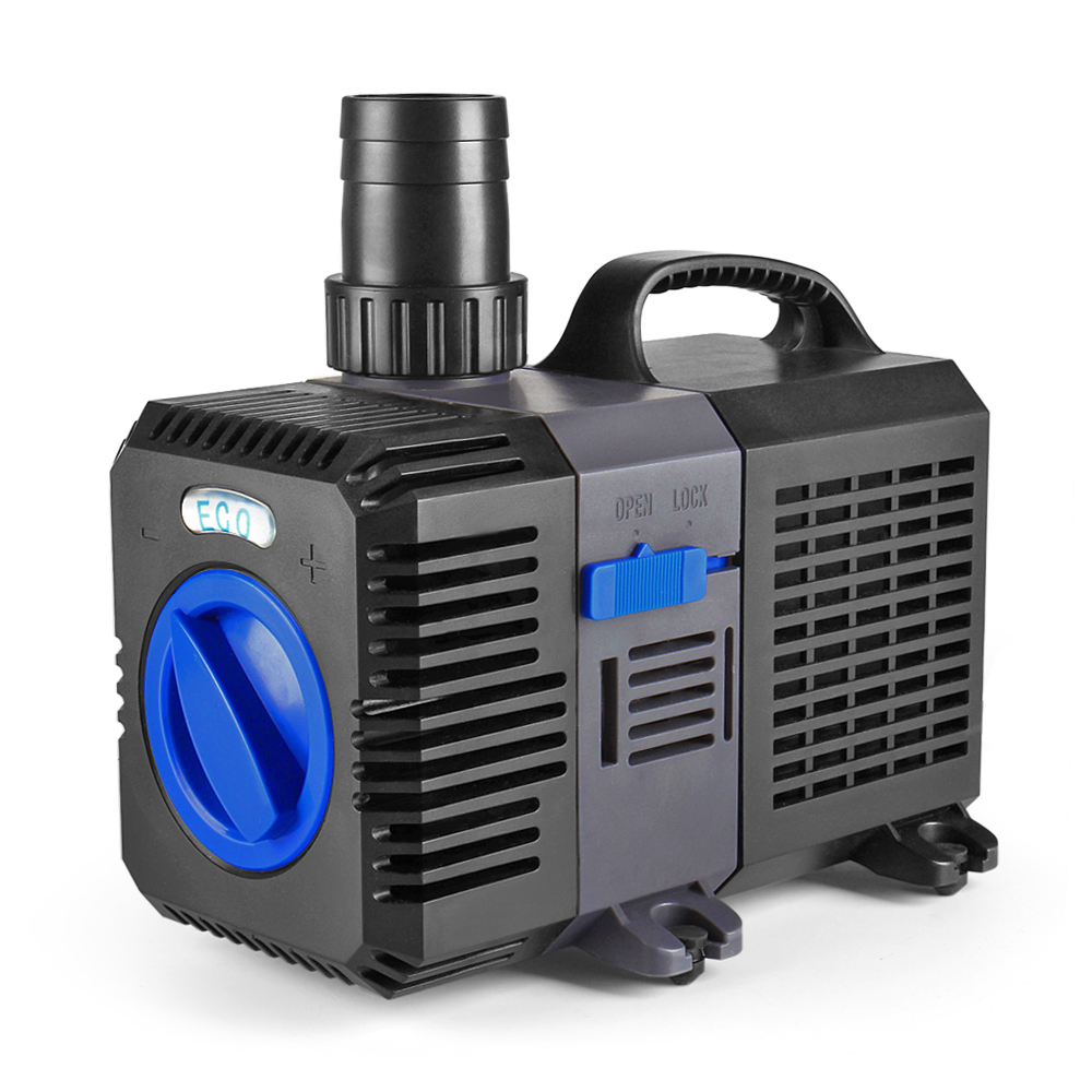 Pond pump 2100gph adjustable submersible inline fountain for Underwater pond filter