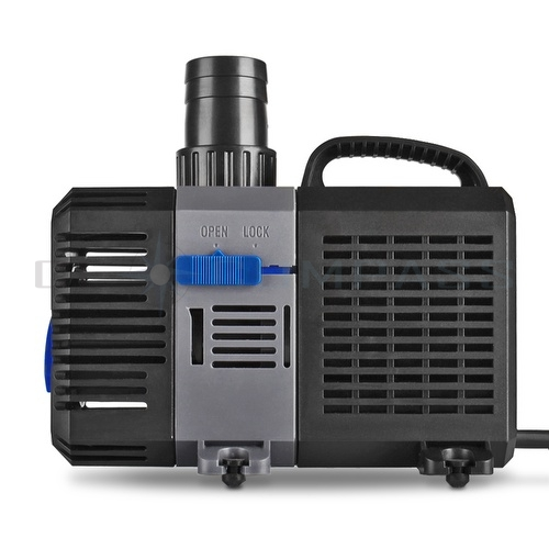 Pond pump 2100gph adjustable submersible inline fountain for Large pond filtration system