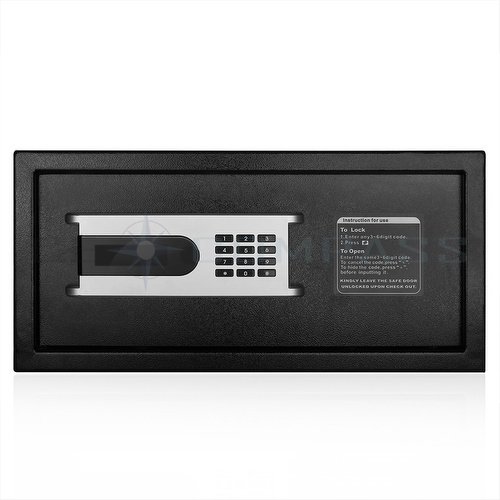 electronic safe box with key digital keypad combination. Black Bedroom Furniture Sets. Home Design Ideas