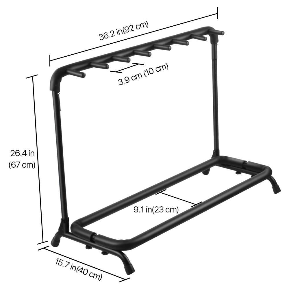 guitar stand 7 holder folding stand rack band storage bass. Black Bedroom Furniture Sets. Home Design Ideas