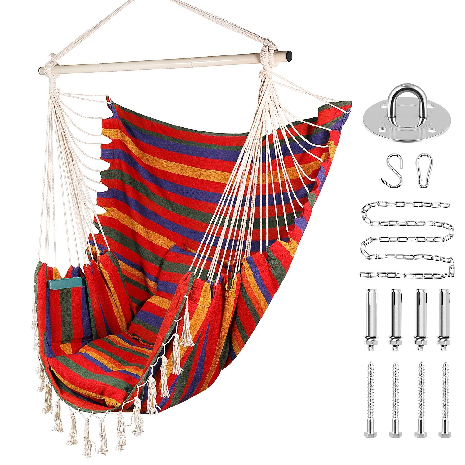Indoor Swing Chair hammock swing chair hanging rope chair portable porch seat for