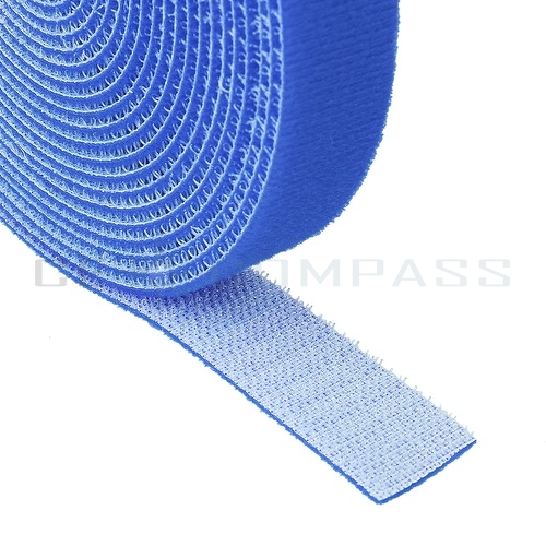 hook and loop tape strap cable ties fastener blue 15ft self adhesive roll wrap. Black Bedroom Furniture Sets. Home Design Ideas