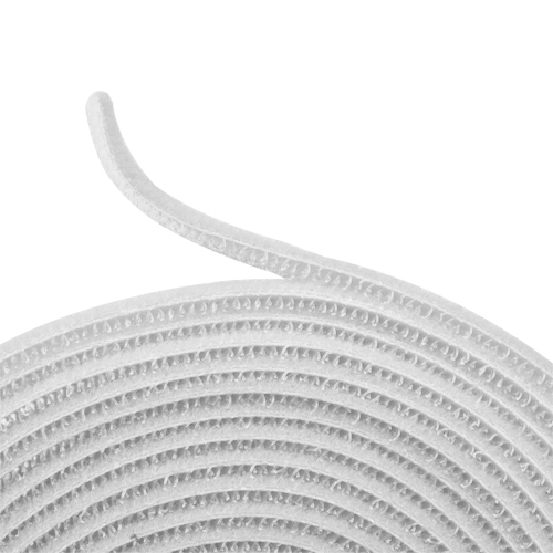 hook and loop tape strap cable ties fastener white 15ft self adhesive roll wrap ebay. Black Bedroom Furniture Sets. Home Design Ideas