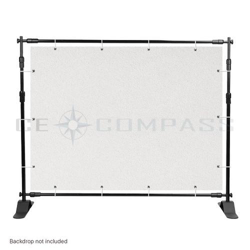 8 Telescopic Backdrop Stand Adjustable Banner Display