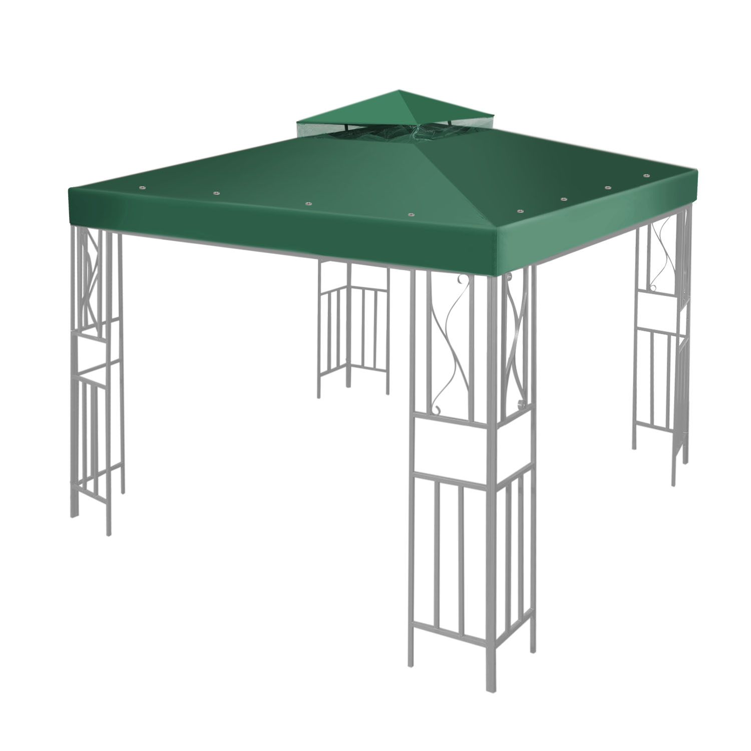 CE Compass 10'x10' Gazebo Canopy Top Replacement 2Tier UV30 Outdoor Garden Patio Cover Green at Sears.com