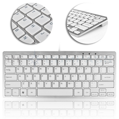 mini 78 key wired usb 2 0 keyboard for pc mac ps3 xbox 360 laptop notebook ebay. Black Bedroom Furniture Sets. Home Design Ideas