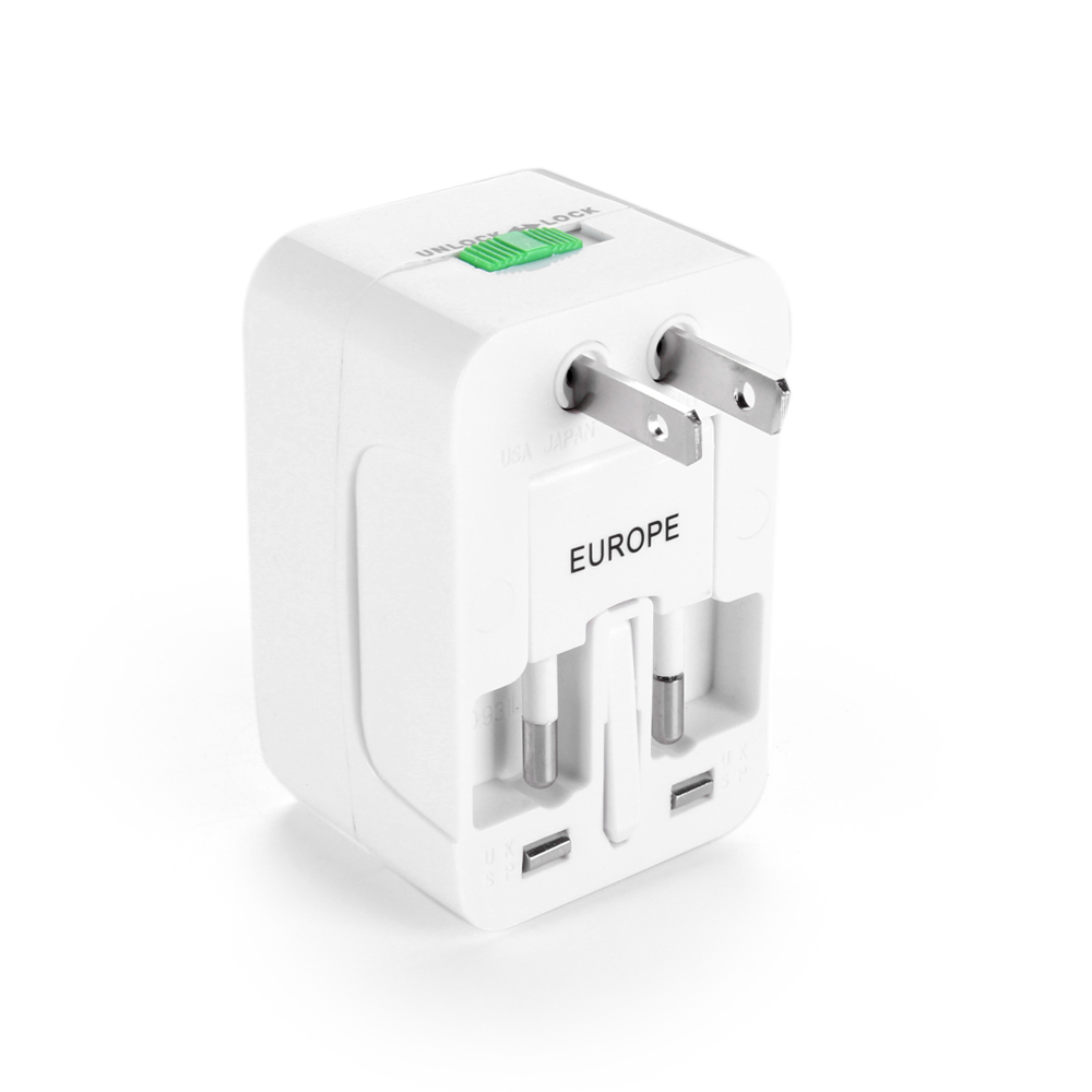 Us to uk ac power plug white black travel wall adapter plug converter - All In One Universal Travel Wall Charger Ac
