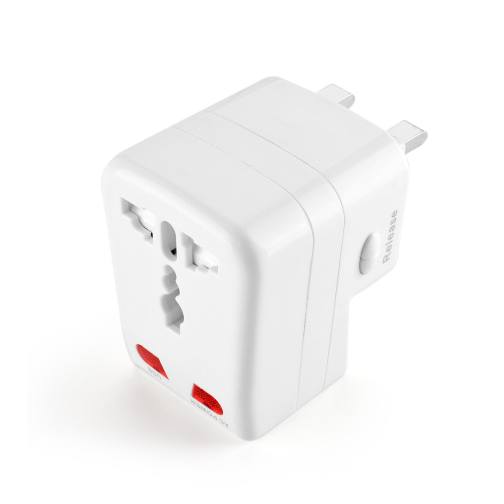 Us to uk ac power plug white black travel wall adapter plug converter - Accepts Plugs From More 150 Countries With Us Eu Uk Au Plugs