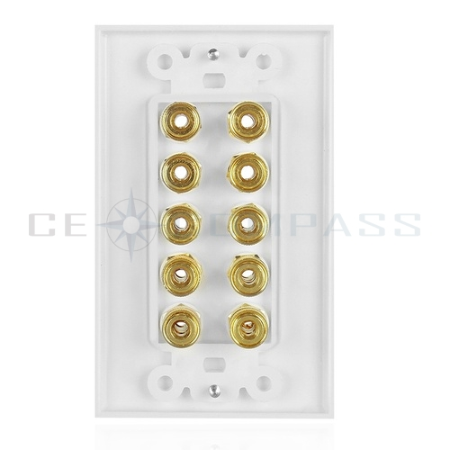 home wiring wall plate home theater wall plate 5.1 surround sound banana binding ... cat 5 wiring diagram wall plate #14