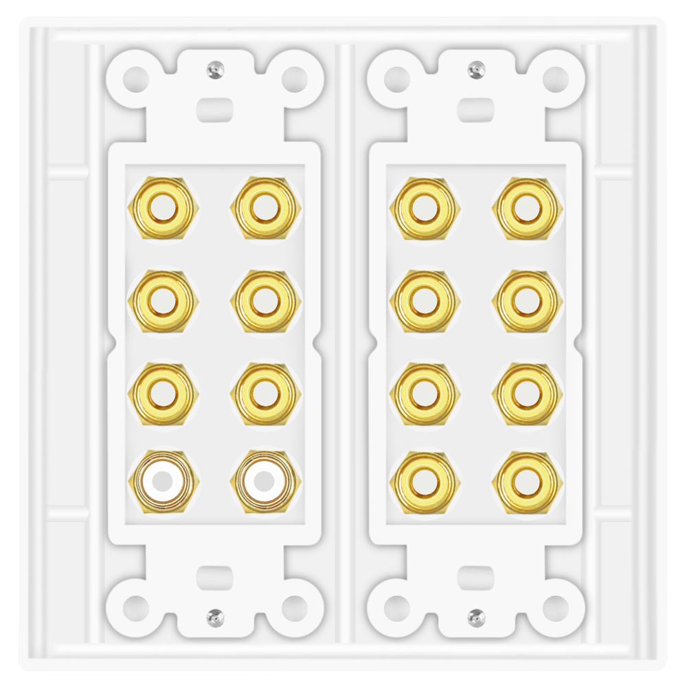 Home Theater Wall Plates home theater speaker wall plate outlet 7.2 7.1 banana plug binding