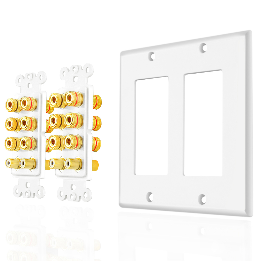 Home Theater Speaker Wall Plate Outlet 7 2