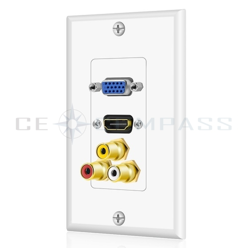 ... about HDMI VGA 3RCA Composite Audio Video Wall Face Plate Panel