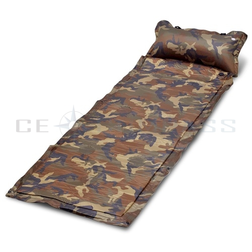self inflate air mat mattress pad bed pillow camo outdoor 88445