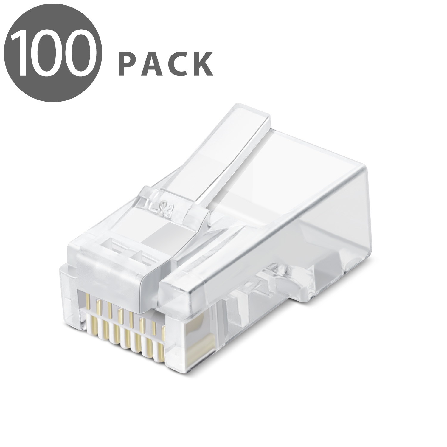 Cenos rj45 connector ethernet cable plug shielded cat6 gold plated network stp 8p8c modular terminals 50pcs 8pin XTL-B019